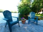 Private dock with chairs for enjoying the lake.
